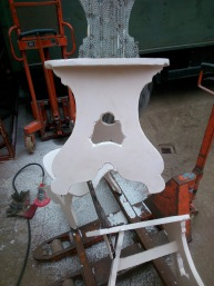 sanding front legs