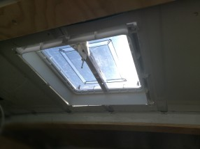 Skylight installed